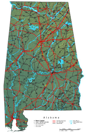 Interactive Alabama map