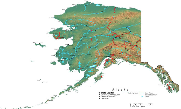 Maps Of Alaska With Cities