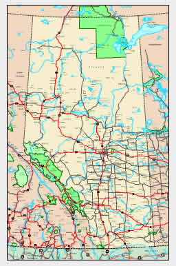 Alberta Map - online maps of Alberta Province