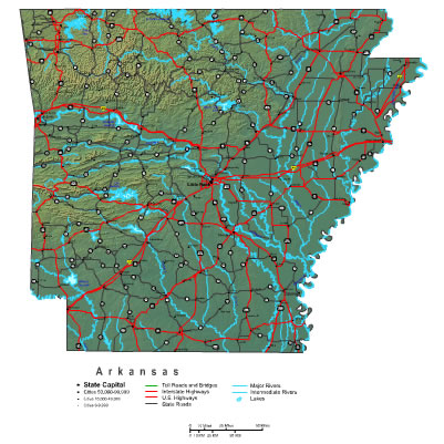 Interactive Arkansas map