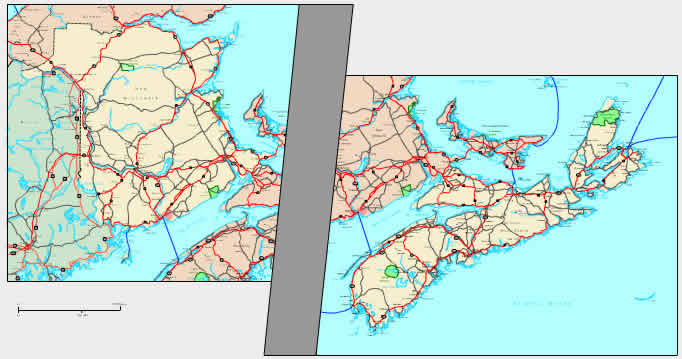 Interactive Atlantic Provinces: NB, NS, PE map