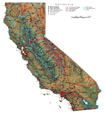 California Map online maps of California State