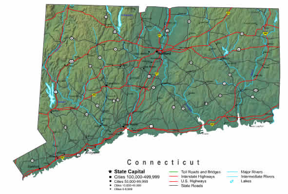 Interactive Connecticut map