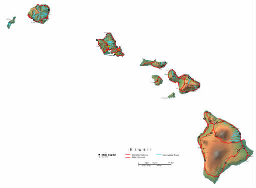 Interactive Hawaii map