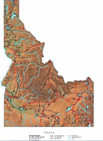 Interactive Idaho map