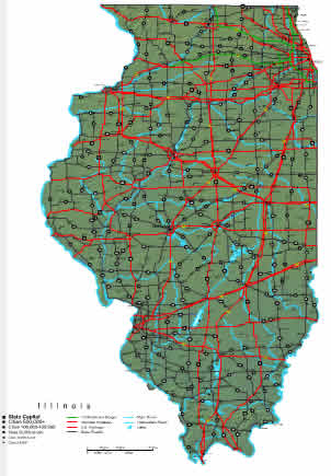 Interactive Illinois map