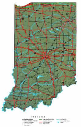 Interactive Indiana map