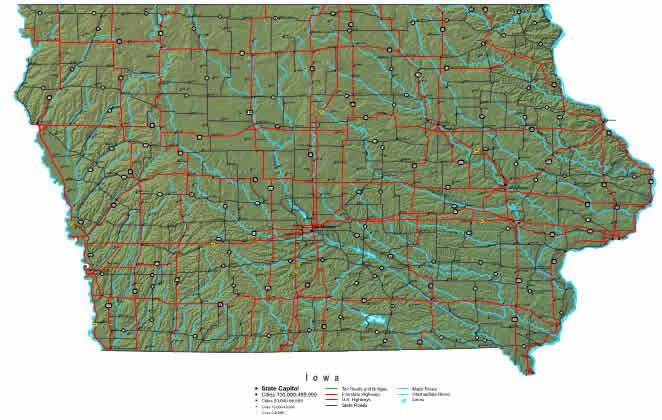 Interactive Iowa map