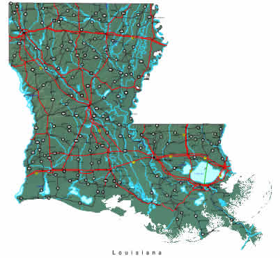 map of louisiana. Interactive Louisiana map