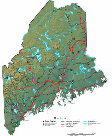 Interactive Maine map
