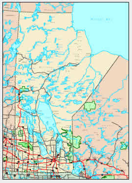 Manitoba Map - online maps of Manitoba Province