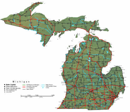 Interactive Michigan map