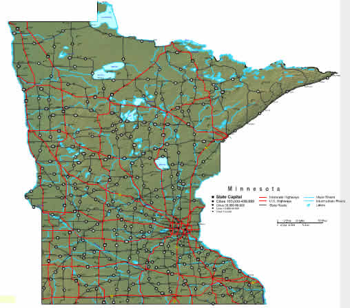 Show me a Map of Minnesota