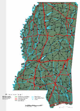 Interactive Mississippi map