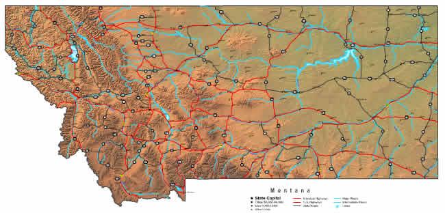 Interactive Montana map