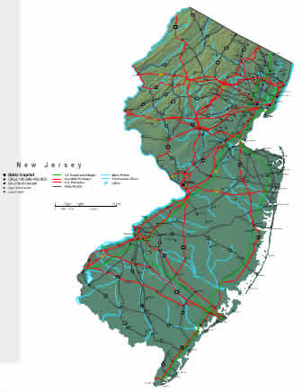Interactive New Jersey map