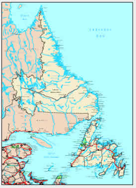 Interactive Newfoundland map
