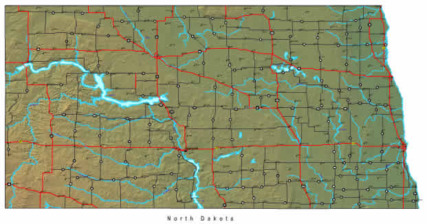 Interactive North Dakota map