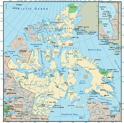 Interactive Nunavut map