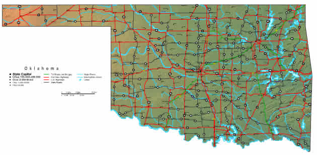 Interactive Oklahoma map