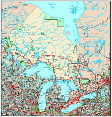 Interactive Ontario map