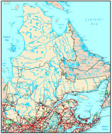 Interactive Quebec map