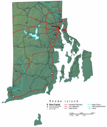 Interactive Rhode Island map