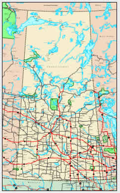 Interactive Saskatchewan map