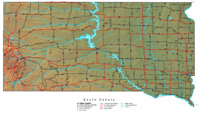 South Dakota Map online maps of South Dakota State – South Dakota Travel Information Map