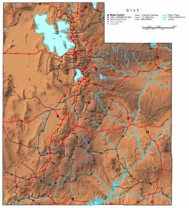 Utah Map Online Maps Of Utah State