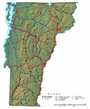 Interactive Vermont map