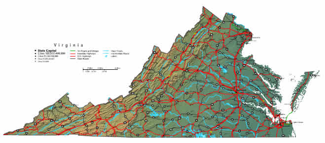 Interactive Virginia map