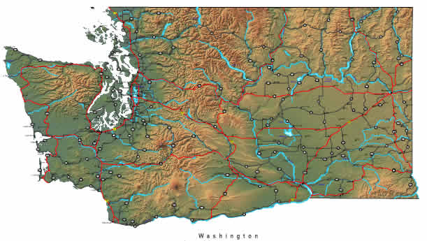 Washington Map Online Maps Of Washington State - Washinton state map