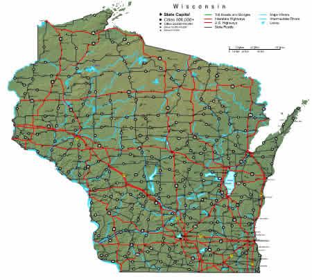 Interactive Wisconsin map