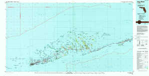 Key West topographical map