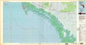 Everglades City topographical map