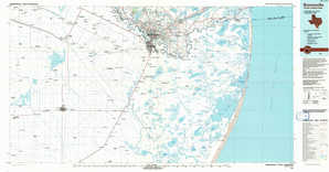 Brownsville topographical map