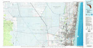 Fort Lauderdale topographical map