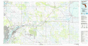 Fort Myers topographical map