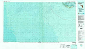 Sanibel 1:250,000 scale USGS topographic map 26082a1
