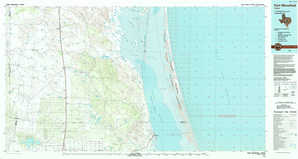 Port Mansfield topographical map