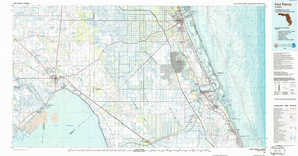 Fort Pierce topographical map