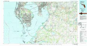 Saint Petersburg topographical map