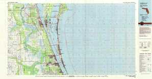 Cape Canaveral topographical map