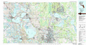 Orlando topographical map