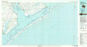 San Antonio Bay topographical map