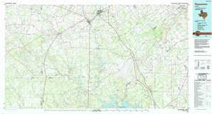 Pleasanton topographical map