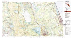 Daytona Beach topographical map