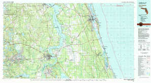 Saint Augustine topographical map