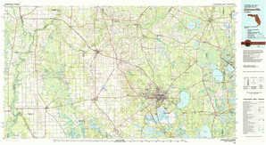 Gainesville topographical map